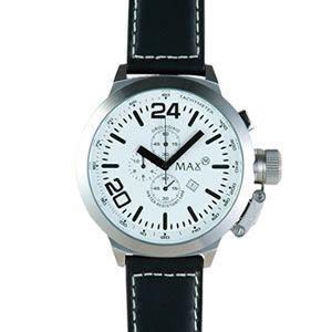 マックス 腕時計 MAX ブラック シルバー クロノグラフ MAX396|webtrade
