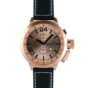 マックス 腕時計 MAX ブラック ピンクゴールド クロノグラフ MAX398|webtrade