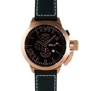 マックス 腕時計 MAX ブラック ピンクゴールド クロノグラフ MAX324|webtrade