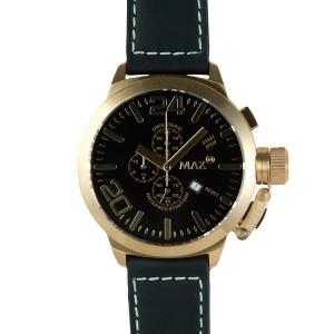 マックス 腕時計 MAX ブラック ゴールド クロノグラフ MAX325|webtrade