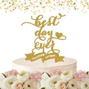 ケーキトッパー名前・名入れ「bestdayever」|weddingdecor