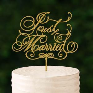 ケーキトッパーカリグラフィー「JustMarried」|weddingdecor
