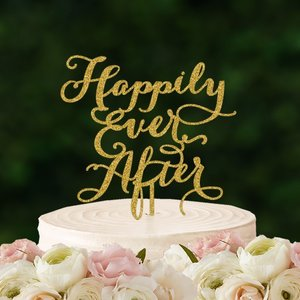 ケーキトッパー「happilyEverAfter」|weddingdecor