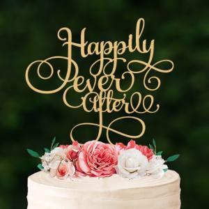 大型ケーキトッパー「Happilyeverafter」|weddingdecor
