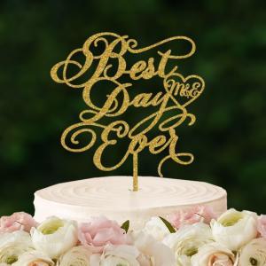 ケーキトッパーイニシャル入り「BestDayEver」|weddingdecor