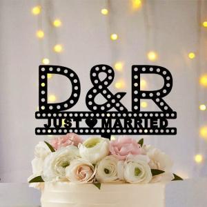 ケーキトッパーマーキーライト型イニシャル|weddingdecor