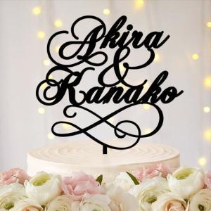 ケーキトッパー名前・名入れ文字型シンプルver1|weddingdecor
