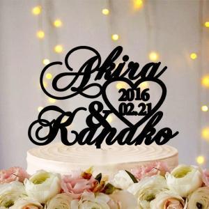 ケーキトッパー名入れ・日付の文字型ver7|weddingdecor