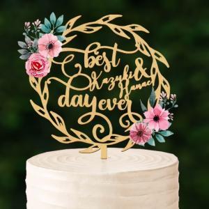 BIGサイズ!リース型ケーキトッパー名入れnaire11|weddingdecor