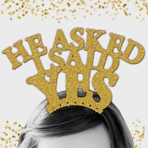 ヘッドドレス「Iasked Shesaid YES」「heasked Isaid YES」セット|weddingdecor