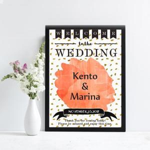 p001_ラフスケッチwatercollarフラッグ_コンビニ印刷の結婚式ウェルカムボード|weddingdecor
