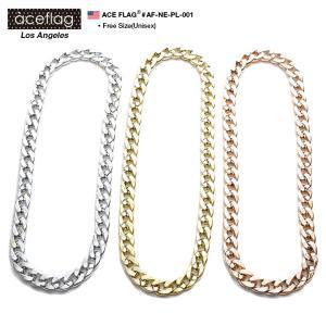 エースフラッグ ACEFLAG ネックレス プラチェーン プラスチック 超軽量 極太 喜平 ゴールド...