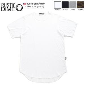 ラスティックダイム RUSTIC DIME Tシャツ ロング丈 半袖 メンズ レディース 大きいサイ...