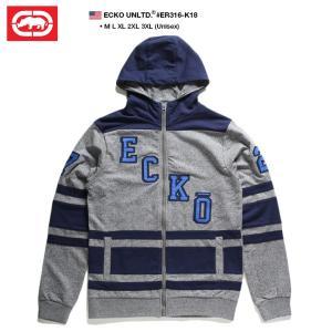 エコーアンリミテッド ECKO UNLTD ZIPUP フットボールシャツ フードパーカー