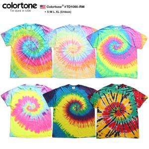 colortone カラートーン タイダイ Tシャツ 半袖 メンズ レディース 大きいサイズ b系 ...