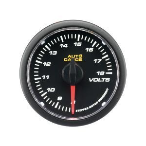 オートゲージ 電圧計 52Φ クリアレンズ ホワイトLED 4|weimall