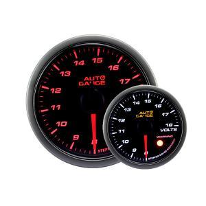オートゲージ 電圧計 60Φ スモークレンズ ホワイト/アンバーLED ワーニング機能付 4|weimall
