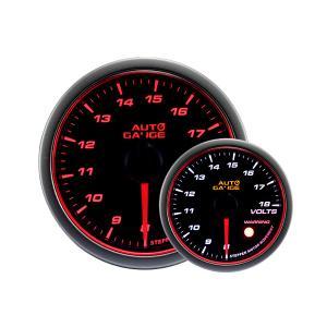 オートゲージ 電圧計 52Φ エンジェルリング スモークレンズ ホワイト/アンバーLED ワーニング機能付 4|weimall