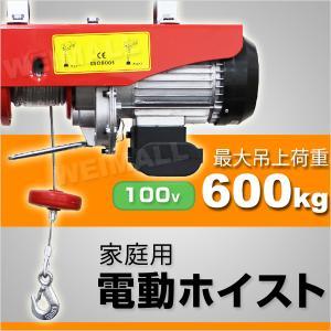 電動ホイスト 電動ウインチ 600kg 家庭用 100V|weimall