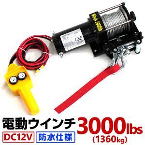電動ウインチ 電動ホイスト 1361kg / 3000LBS DC12V
