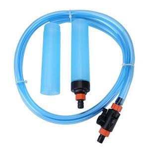 面倒な飼育水の交換、お掃除をより手軽に! 水槽の底にある糞や汚れを集中的に吸い取り、水換えることがで...