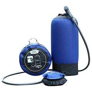 商品名:アウトドア簡易シャワーシステム。収納ケース付き、便利に携帯、電源不要です。 タンク適正容量:...
