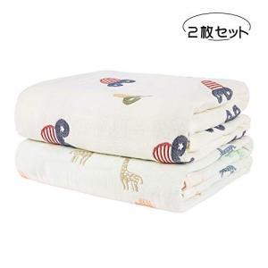 【仕様】サイズ:105*105cm 6重ガーゼ 100%綿 (2枚セット絵柄2種類) 【可愛い図案】...