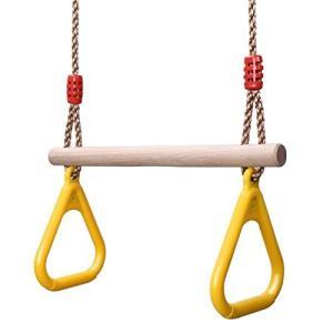 子供体操吊り輪 調整簡単 安定性 初心者 ロープ長さ調節可能 吊り輪トレーニング 160kgまで荷重