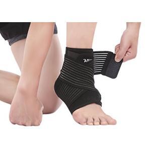 足首サポートや交差ストラップの組み合わせ、二重圧迫で足首、アキレス腱や関節がしっかりとサポートするプ...
