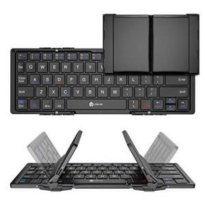 【Bluetooth 折りたたみキーボード】:折りたたみ式のキーボードなので、軽く薄型のコンパクトキ...