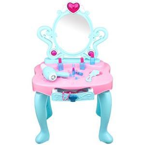 【高品質な材質】:こちらのままごとドレッサーおもちゃは環境保護の食品級プラスチック製で安心安全に子供...