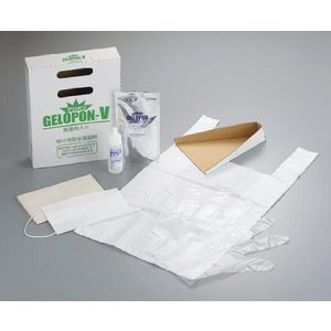嘔吐物緊急凝固材セット ゲロポン-V 177-W 8-3302-02|wel-sense-shop