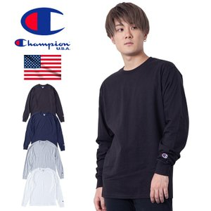 Champion USA企画の袖口にロゴをワンポイントでデザインしたシンプルisベストなロンT。ボデ...