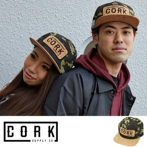 Cork Supply Co コルクサプライ キャップ Cover メンズ スナップバック コルクバイザー フリーサイズ カモ|welcome