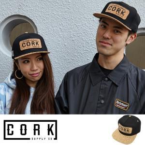 Cork Supply Co コルクサプライ キャップ メンズ レディース ユニセックス Cover スナップバック コルクバイザー フリーサイズ ブラック|welcome