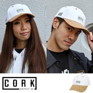 Cork Supply Co コルクサプライ キャップ Feel メンズ レディース 男女兼用 ストラップバック コルクバイザー フリーサイズ ホワイト|welcome