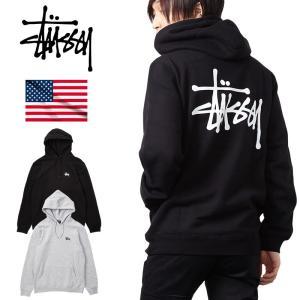 STUSSY ステューシー パーカー プルオーバー メンズ Basic Logo Pullover Hooded Sweat USAモデル