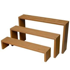 Welcome Wood フラワースタンド ウッドステージ90型3段タイプ  フラワーラック 飾り台|welcomewood|07