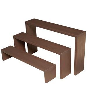 Welcome Wood フラワースタンド ウッドステージ90型3段タイプ  フラワーラック 飾り台|welcomewood|06