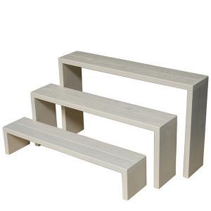 Welcome Wood フラワースタンド ウッドステージ90型3段タイプ  フラワーラック 飾り台|welcomewood|08