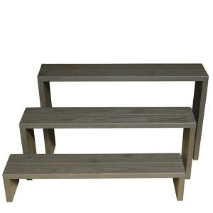 Welcome Wood フラワースタンド ウッドステージ90型3段タイプ  フラワーラック 飾り台|welcomewood|02