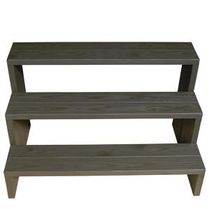 Welcome Wood フラワースタンド ウッドステージ90型3段タイプ  フラワーラック 飾り台|welcomewood|03