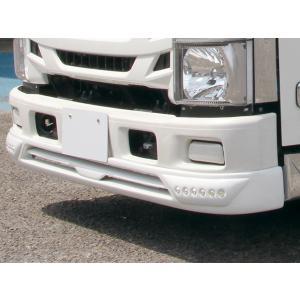いすゞ エルフ 07 標準車 フロントスポイラー LED付き 純正色 ホワイト塗装済 イスズ ISUZU ELF 2tトラック トラックカスタム|welcstore