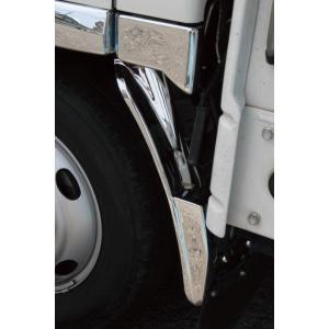 いすゞ エルフ 07 標準車 メッキマットガードカバー イスズ ISUZU ELF 2tトラック トラックカスタム|welcstore
