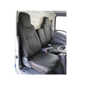 いすゞ エルフ 07 標準車 シートカバー ブラック ISUZU ELF 2tトラック トラックカスタム|welcstore