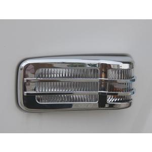 いすゞ エルフ 07 標準車 メッキ ドアサイドマーカーカバー ライトカバー イスズ ISUZU ELF 2tトラック トラックカスタム|welcstore