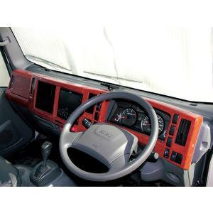 いすゞ エルフ 07 標準車 インテリアパネル ウッドパネル ISUZU ELF 2tトラック トラックカスタム|welcstore