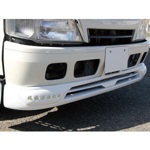 日野 デュトロ/トヨタ ダイナ フロントスポイラー LED付き 純正色 ホワイト塗装済 HINO DUTRO TOYOTA DYNA 2tトラック トラックカスタム|welcstore
