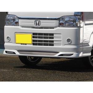 J-NEXT ホンダ アクティ トラック HA8/HA9 用 フロントスポイラー LED付  無塗装 HONDA ACTY 軽トラ 軽トラカスタム|welcstore|02