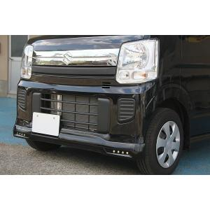 J-NEXT スズキ エブリィ ワゴン(DA17W)用 フロントスポイラー LED付 純正色 塗装済 SUZUKI 軽バン 軽バンカスタム|welcstore